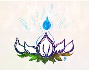 Indigo Lotus Flame