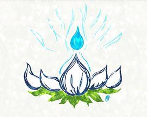 Vibrant Blue Lotus Flame