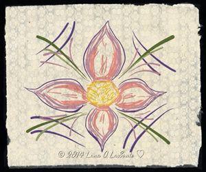 Paper Pink Lavender Flower