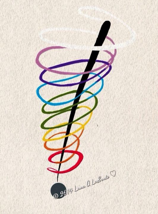 Rainbow Spiral Exclamation - Embracing Inspiration