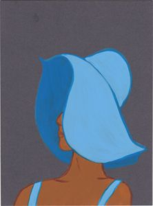 Lady In The Blue Hat
