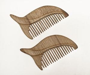 Wooden comb - leaf - 7even Arts - shaping harmony