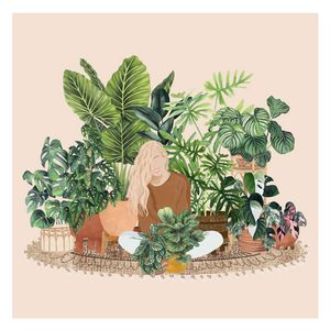 Girl With Plants 3