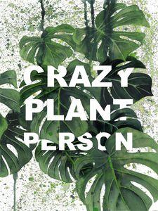 Crazy Plant Person Illustraiton