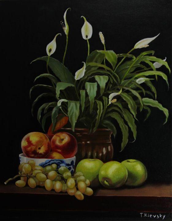 Peace Lily and Fruits - Tatyana Kievsky