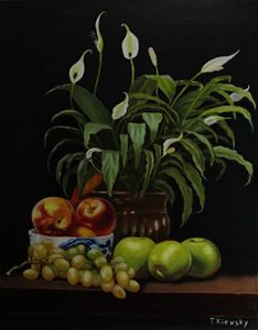 Peace Lily and Fruits