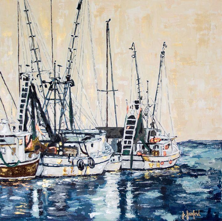 Sitting on the Dock of the Bay - J. Sanford Art