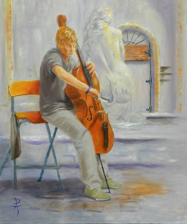 italian musician - p a torley fine art