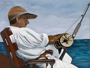 ERNEST HEMINGWAY 1935 FISHING - Caroline Stuhr Fine Art