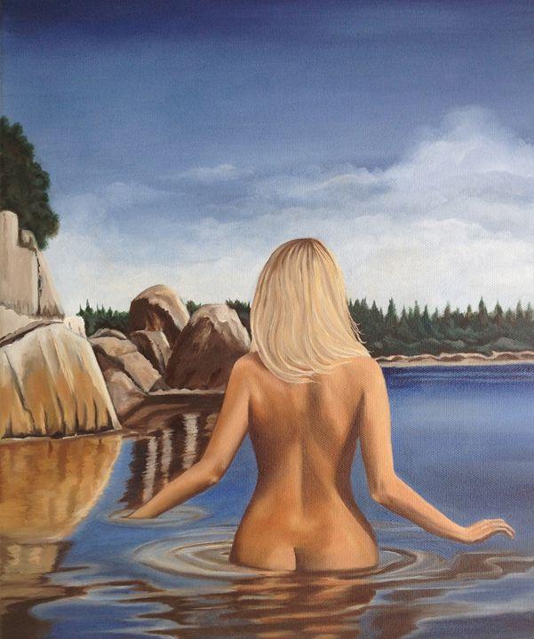 LADY OF THE LAKE - Caroline Stuhr Fine Art