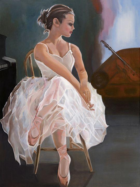 BALLERINA AFTER WORK - Caroline Stuhr Fine Art