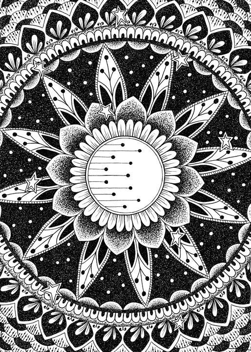 Night Moon Mandala - NerdBird