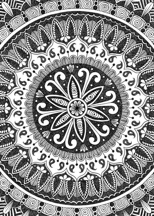 Divine Flower Mandala - NerdBird