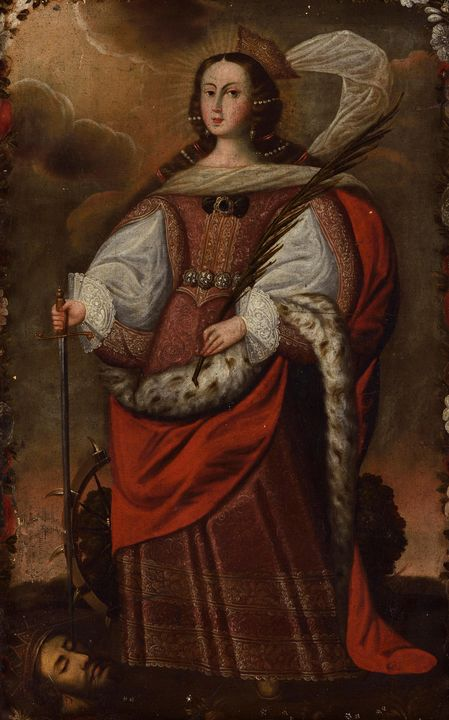 Anonymous~Saint Catherine of Alexand - Old master image