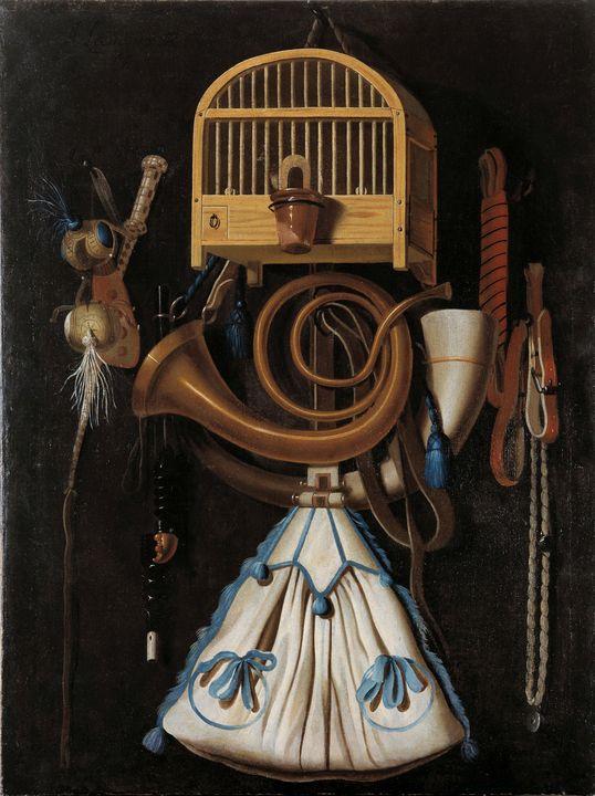 Anthonie Leemans~Hunting gear, Still - Old master image