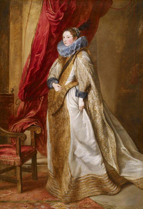 Anthony van Dyck~Genoese Noblewoman - Old master image