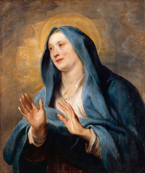 Anthony van Dyck~Maria als Mater Dei - Old master image