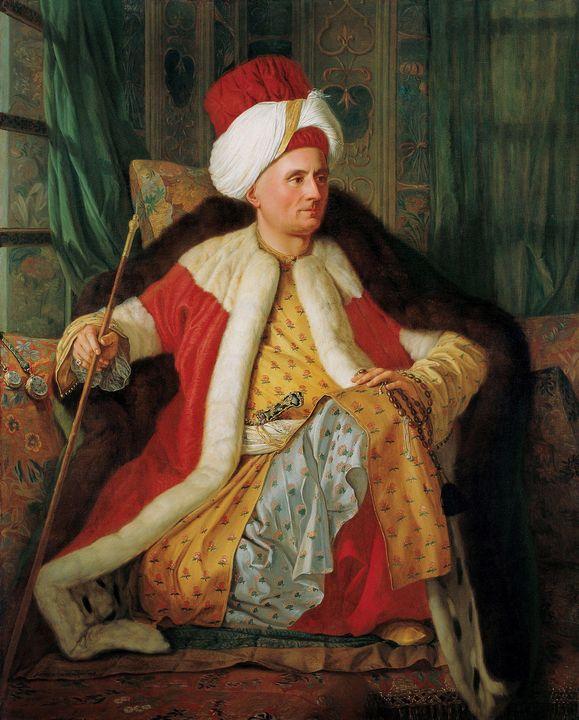 Antoine de Favray~Portrait of Charle - Old master image