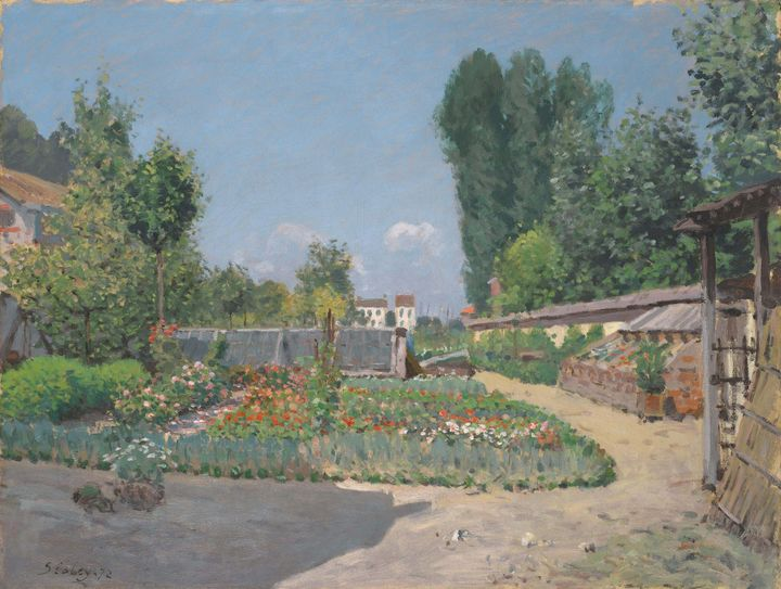 Alfred Sisley~The Kitchen Garden (Le - Old master image