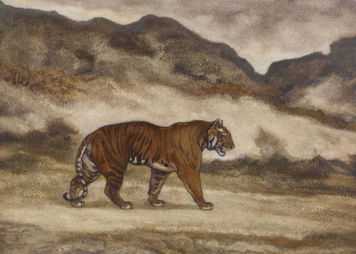Antoine-Louis Barry~Tiger Walking - Old master image