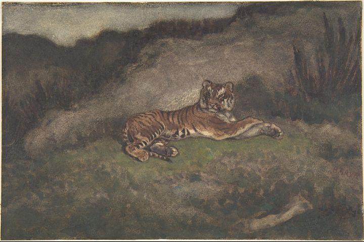 Antoine-Louis Barye~Tiger - Old master image