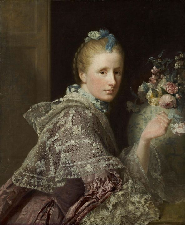 Allan Ramsay~The Artist's Wife Marga - Old master image