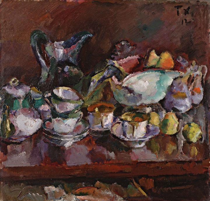 Anton Faistauer~Still Life with Coff - Old master image
