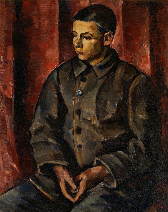 Anton Lindforss~Seated boy - Old master image