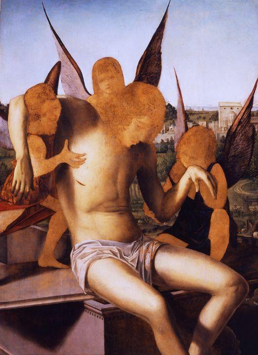 Antonello da Messina~La Pietà - Old master image