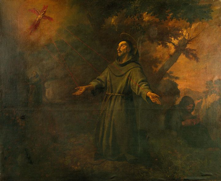 Antoni Viladomat~Saint Francis Recei - Old master image
