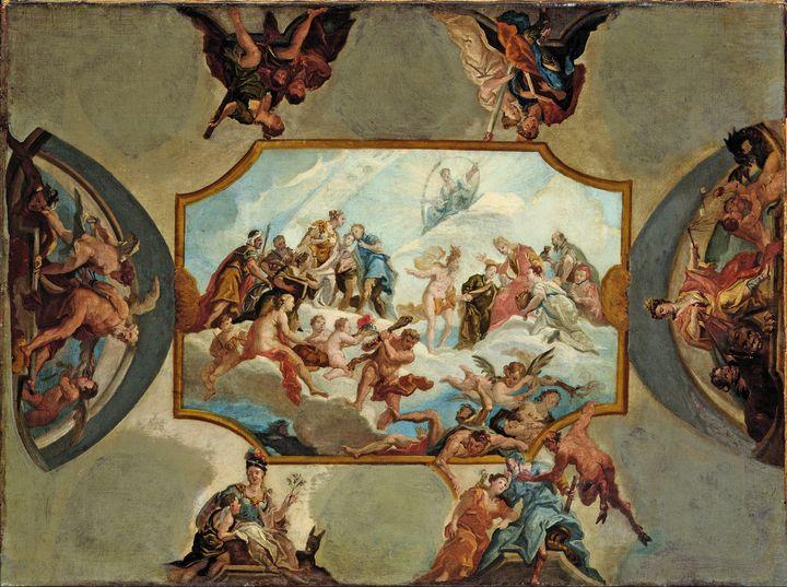 Antonio Bellucci~Reverence to Electo - Old master image