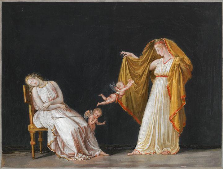 Antonio Canova~Love after having wou - Old master image