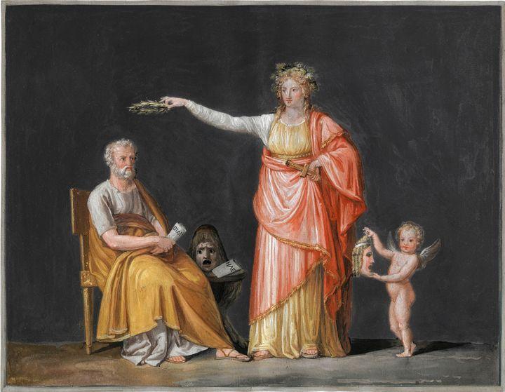 Antonio Canova~Melpomene & Sophocles - Old master image