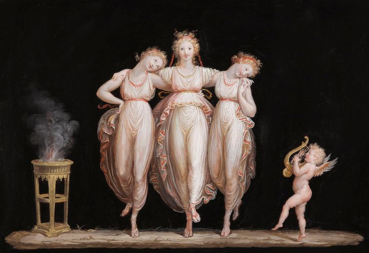 Antonio Canova~The Graces dancing wi - Old master image