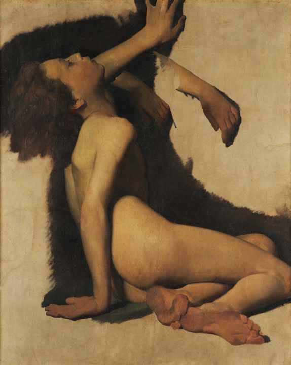 Antonio Ciseri~Giovinetto nudo esani - Old master image