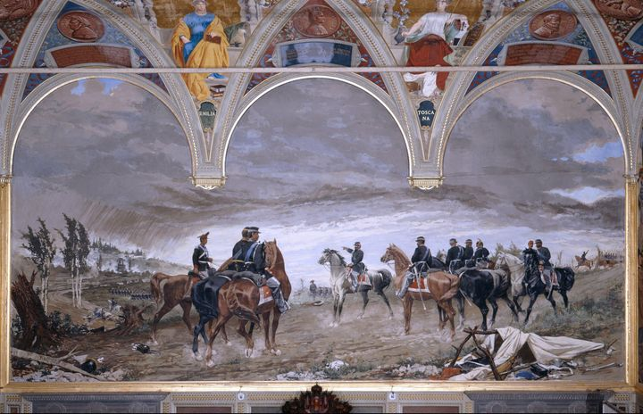Amos Cassioli~The Battle of San Mart - Old master image