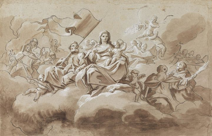 Antonio di Dominici~The Virgin and C - Old master image