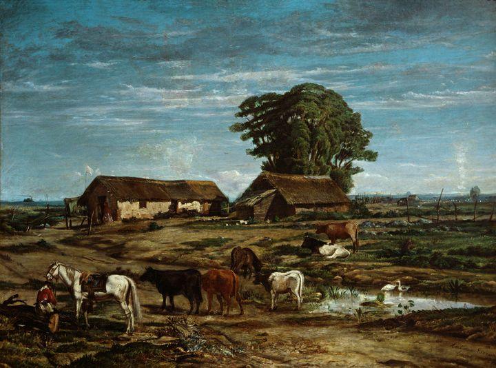 Antonio Gazzano~Quirno's Dairy Farm - Old master image