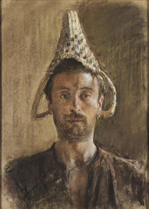 Antonio Mancini~Autoritratto - Old master image