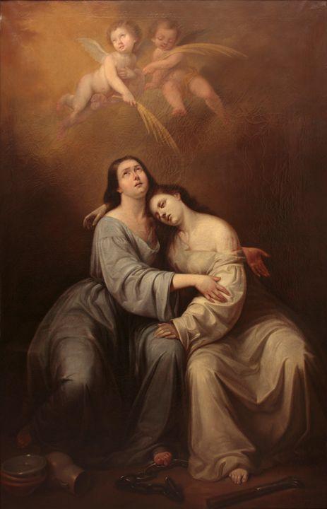 Antonio María Esquivel~Saint Justa a - Old master image
