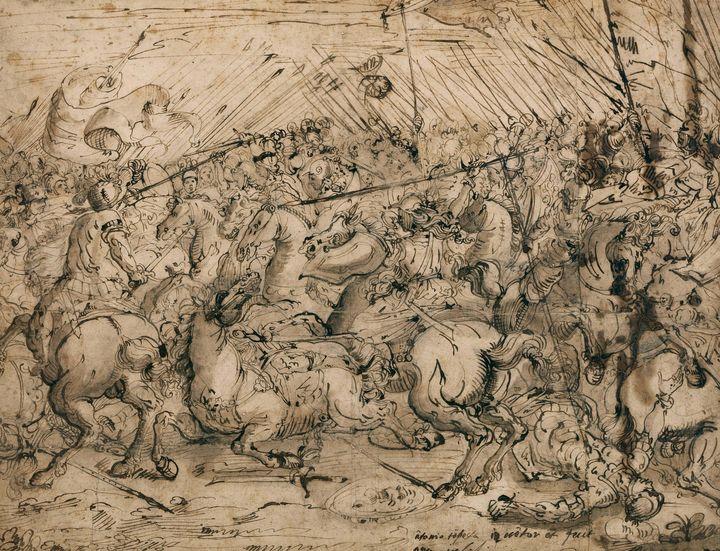 Antonio Tempesta~Battle scene - Old master image