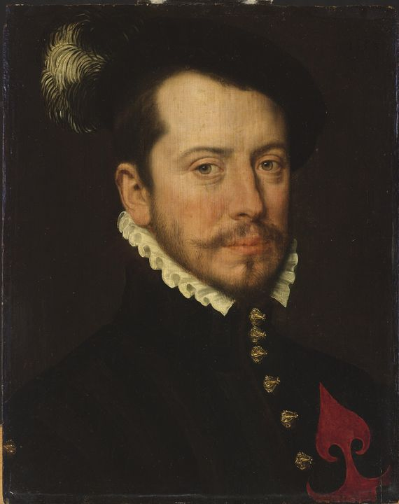 Antonis Mor~Portrait of a Knight of - Old master image