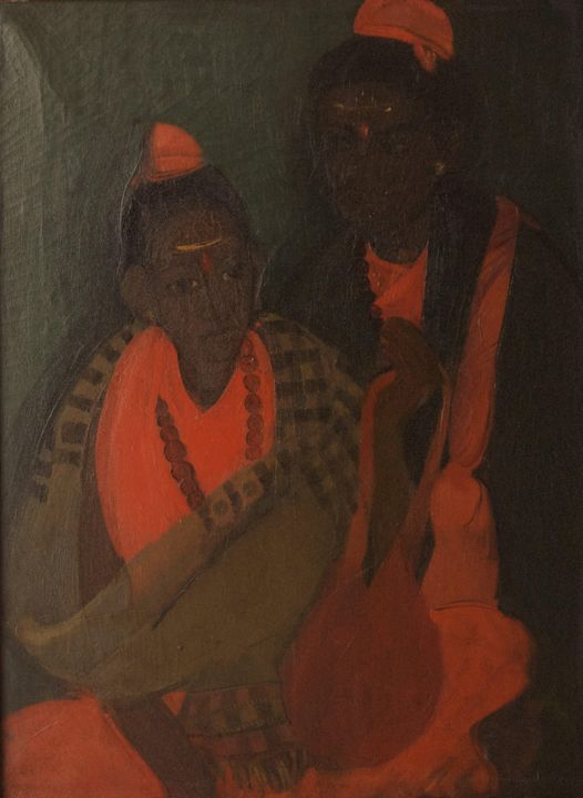Amrita Sher-Gil~Two Mendicants - Old master image