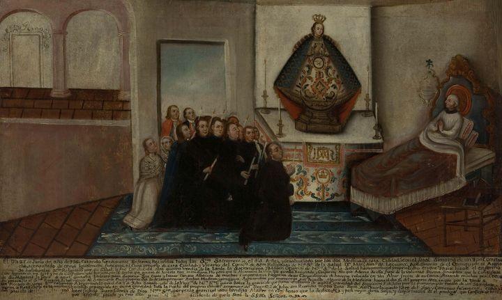 Anónimo novohispano~Exvoto dedicado - Old master image