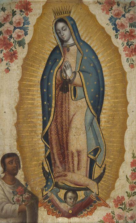 Anónimo novohispano~Virgen de Guadal - Old master image