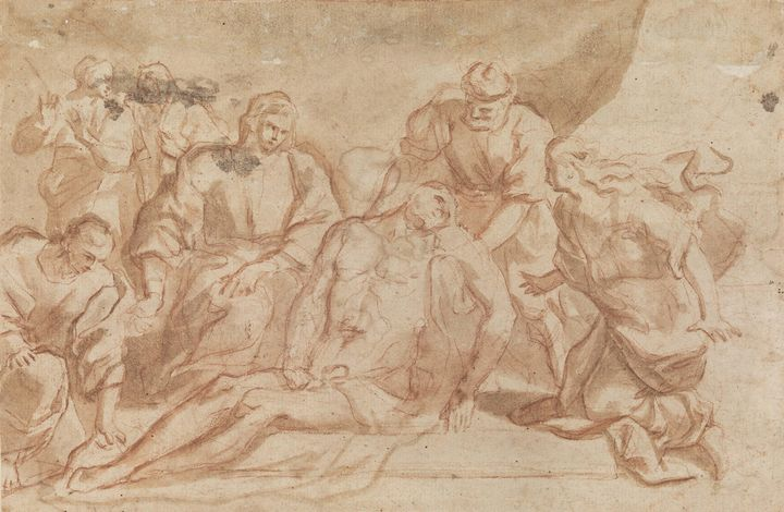 Aniello Falcone~Entombment of Christ - Old master image