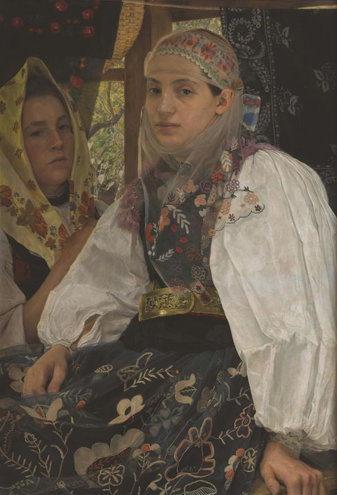 Arthur Coulin~Women from Transylvani - Old master image