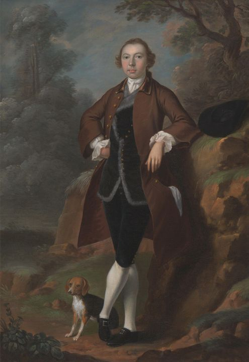 Arthur Devis~William Farington of Sh - Old master image