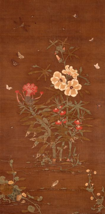 Artist Unkown~Insects and Flowering - Old master image