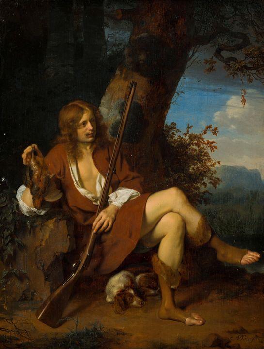 Ary de Vois~Self-Portrait as a Hunte - Old master image